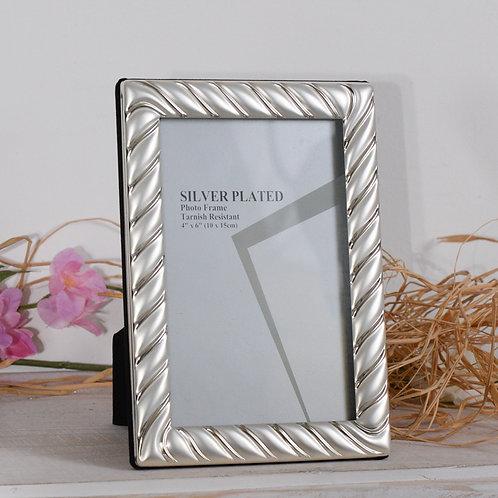 Cornice da appoggio Silver 10x15 strisce opache