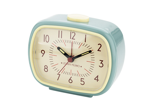 Orologio Sveglia Vintage Azzurro– Retro Alarm Clock – Legami