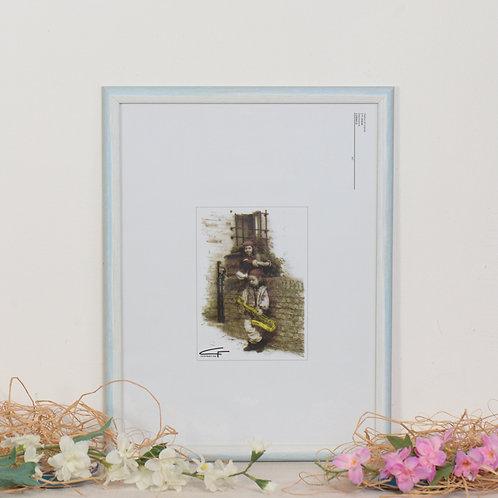 Cornice Legno Colorato da parete 171