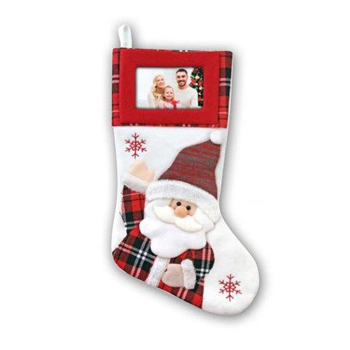 Calza di Natale con Foto – Babbo Natale Bianco