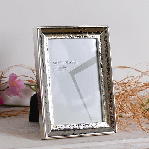 Cornice da appoggio Silver 10x15 martellata