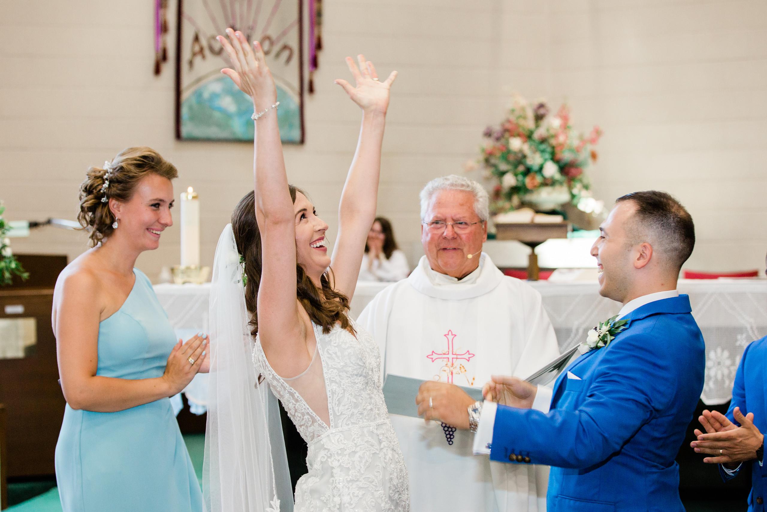 church ceremony wedding photography