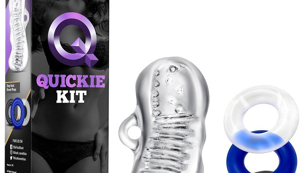 Masturbateur Jerk Off Transparent + 3 Anneaux