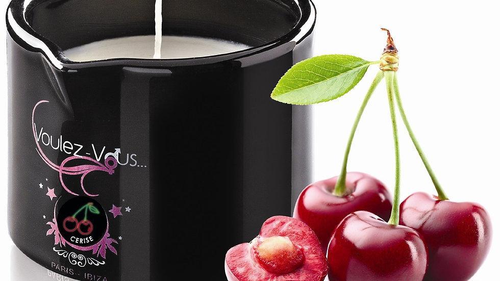 Bougie de massage gourmande Cerise - 180 gr
