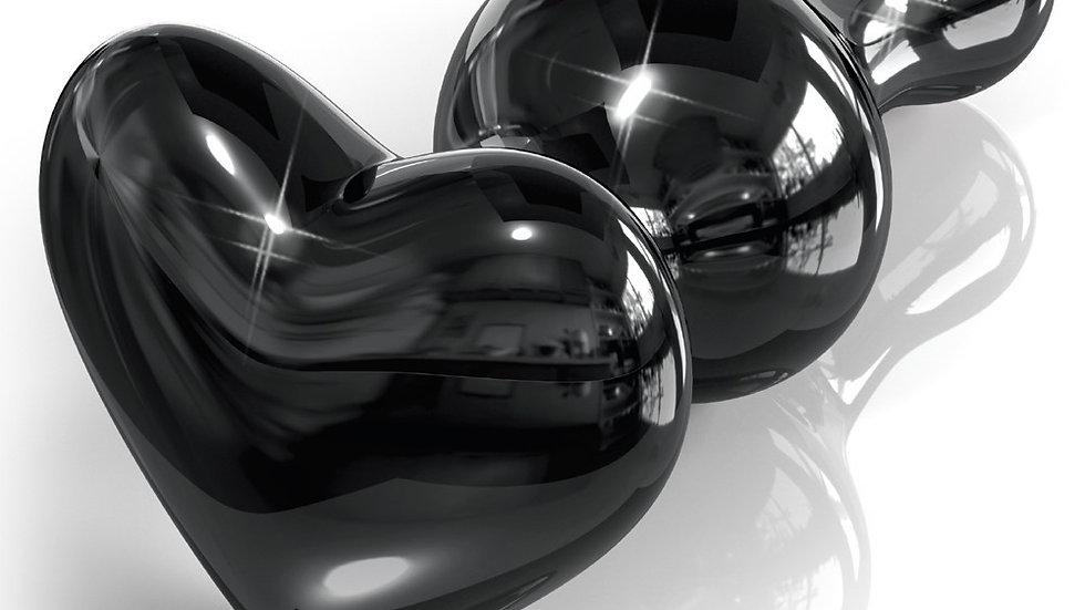 Plug en verre Noir Icicles N°74