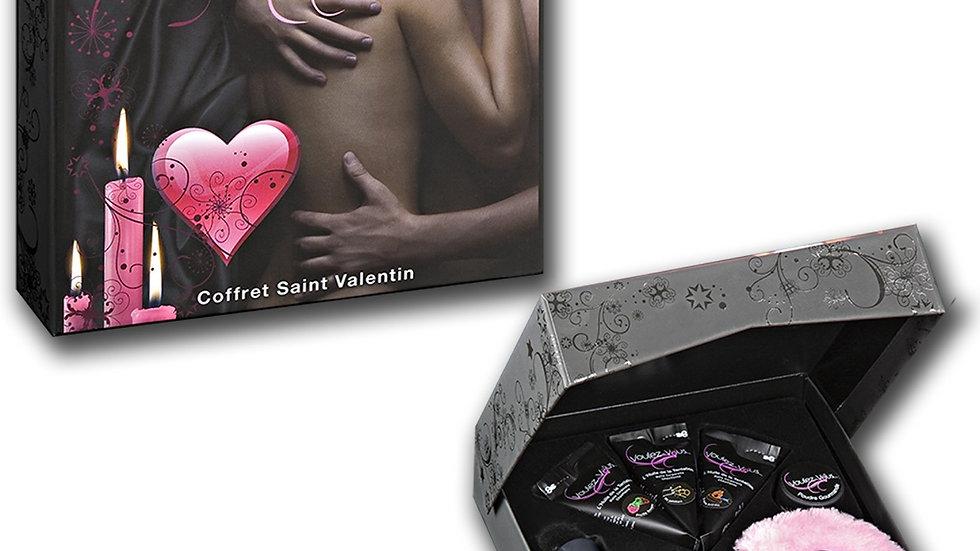 Coffret de massage Saint Valentin avec menottes