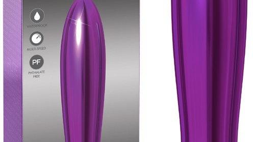 Vibromasseur Pure Aluminium Large pourpre - 18 cm