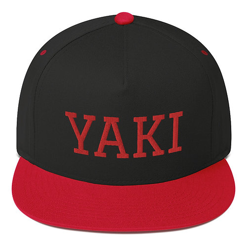 Yaki Flat-Bill Snapback (red embroidery)