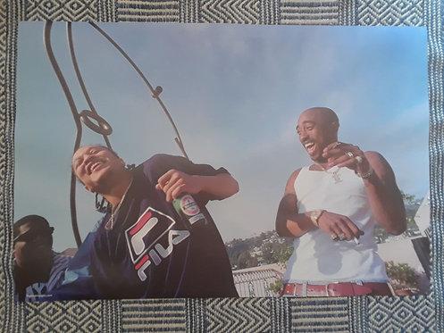 Tupac and Kadafi Poster