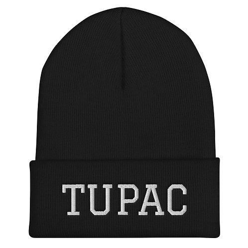 Tupac Beanie (white embroidery)