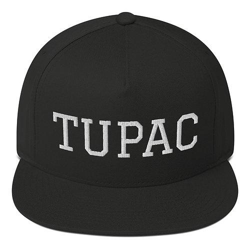 Tupac Flat-bill Snapback (white embroidery)