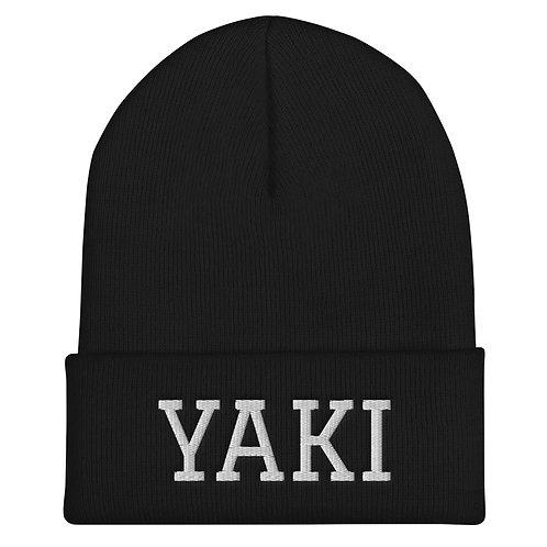 Yaki Beanie (white embroidery)
