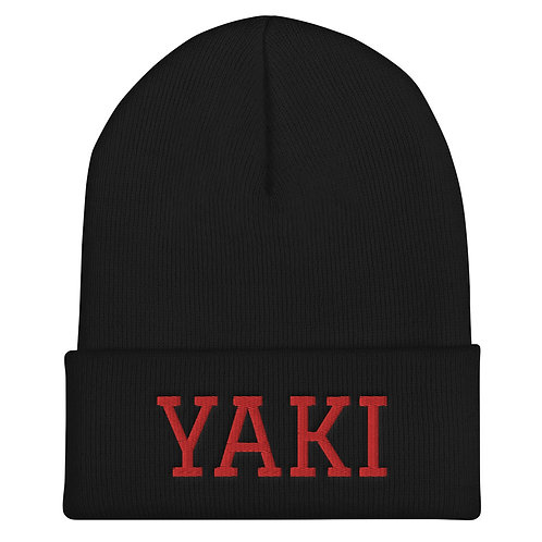 Yaki Beanie (red embroidery)