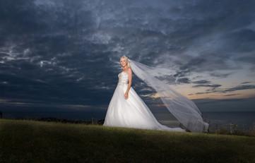 Cornwall wedding sunset