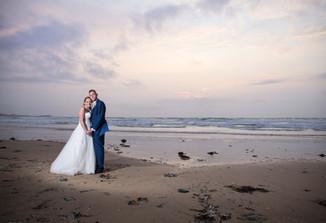 Watergate bay beach wedding