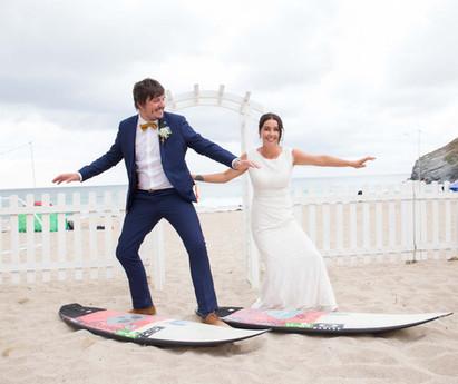 surf wedding lusty glaze