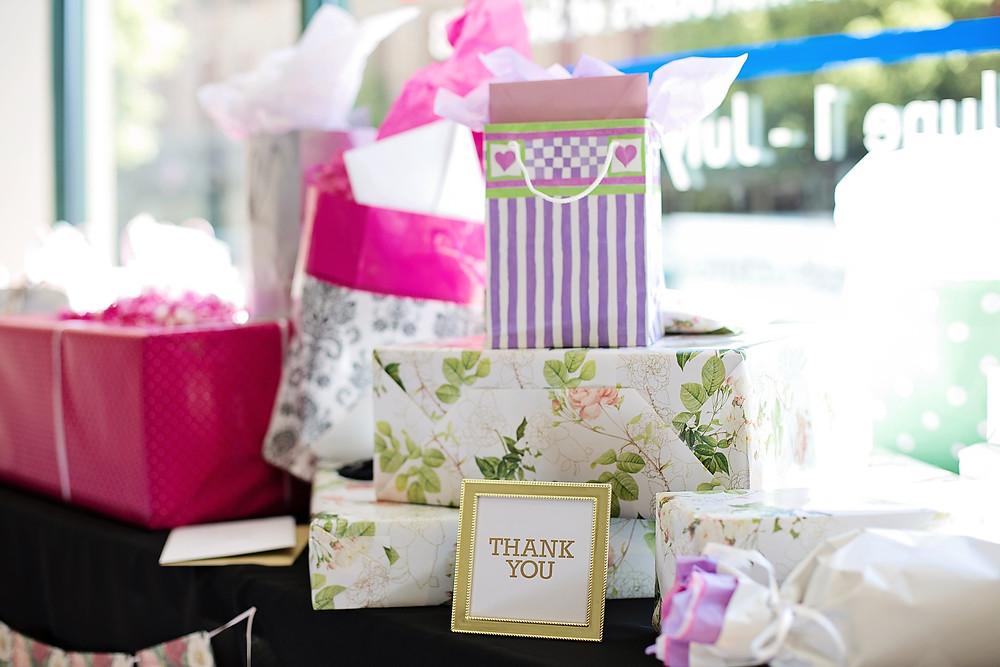 Mesa de regalos para boda