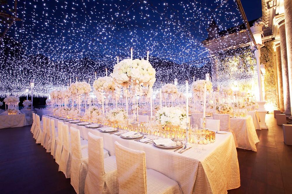 Iluminación ambiental para bodas