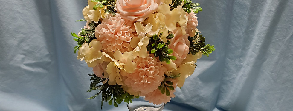 Hydrangea and roses, dahlia  bouquet- Bridal