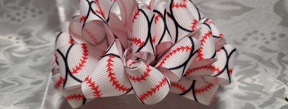 Baseball ribbon bow