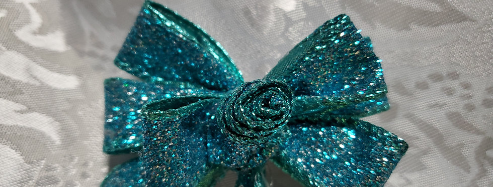 Blue Glitter Bow