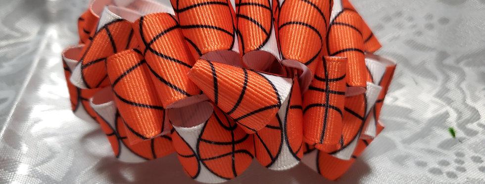 Basketball ribbon bow