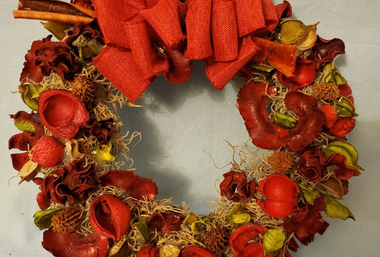 Wreath made of dried flowers