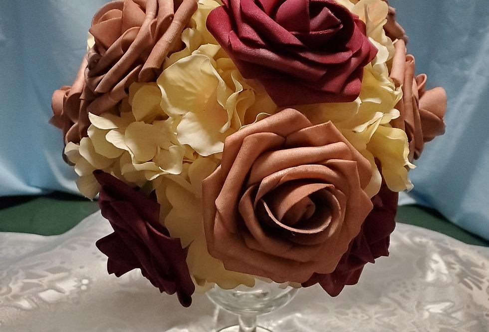 Handheld bride or bridesmaid bouquet