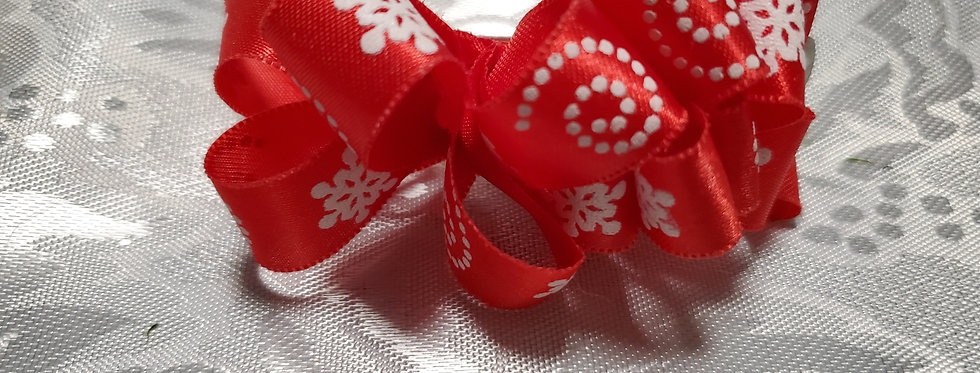 Red Christmas small  bow