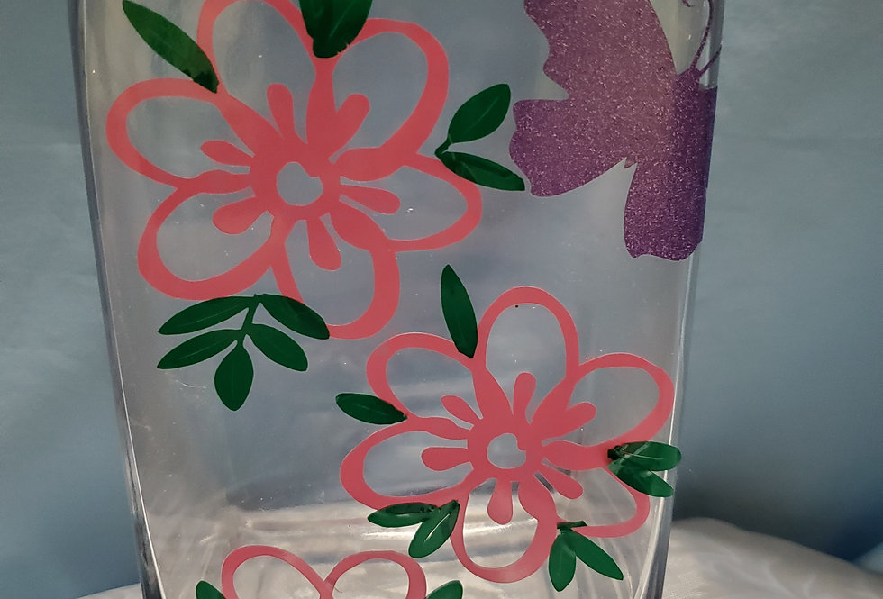 dahlia and butterfly vase