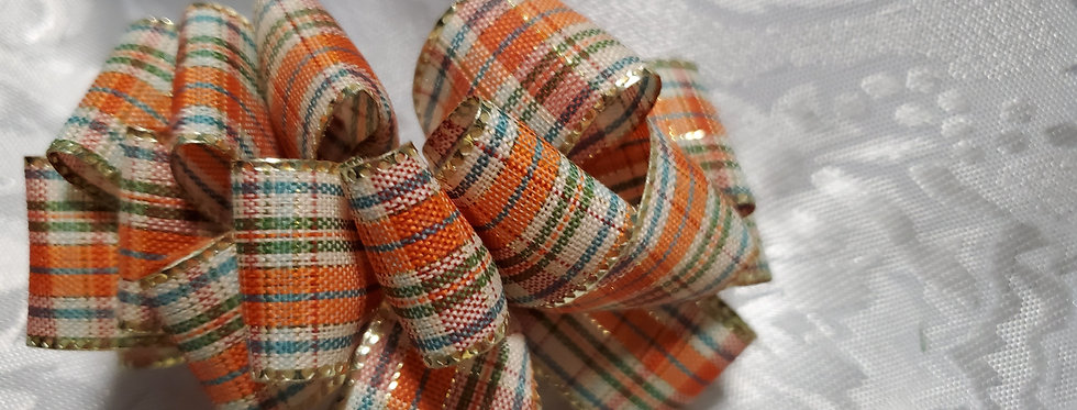 Fall Time Plaid Bow
