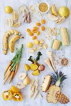 saludable variedad de alimentos de color
