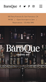 Restaurants & Food website templates – Cocktail Bar