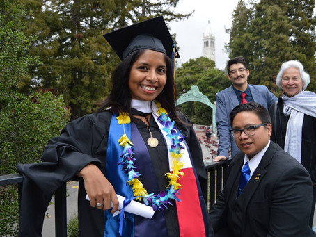 Graduating from Berkeley with my second Master's Degree