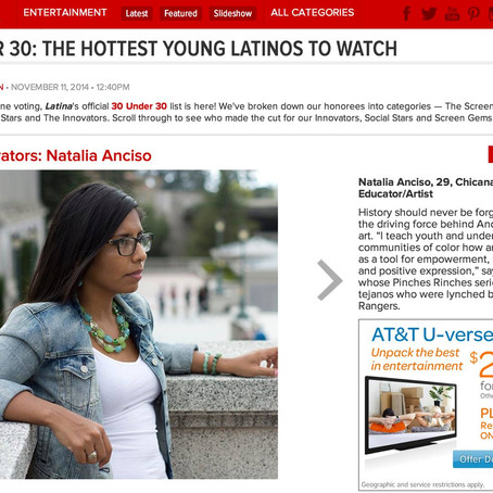 #Latina30Under30:  It's Official (online, too)!  Thank you!!!