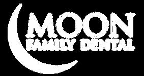 Moon Family Dental White Logo
