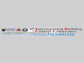 4th International Building Control Conference IBCC