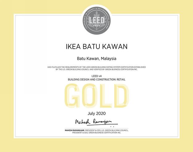 ikea-batu-kawan-leed-gold-certificate