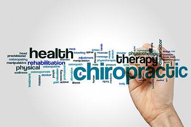 Chiropractic word cloud concept on grey