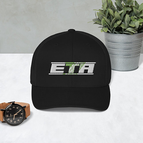 ETA White Embroidered Trucker Cap