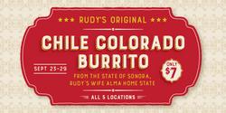 Rudy's Original Chile Colorado Burrito