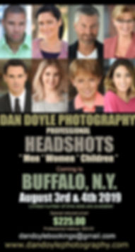 Buffalo actor headshot sessions