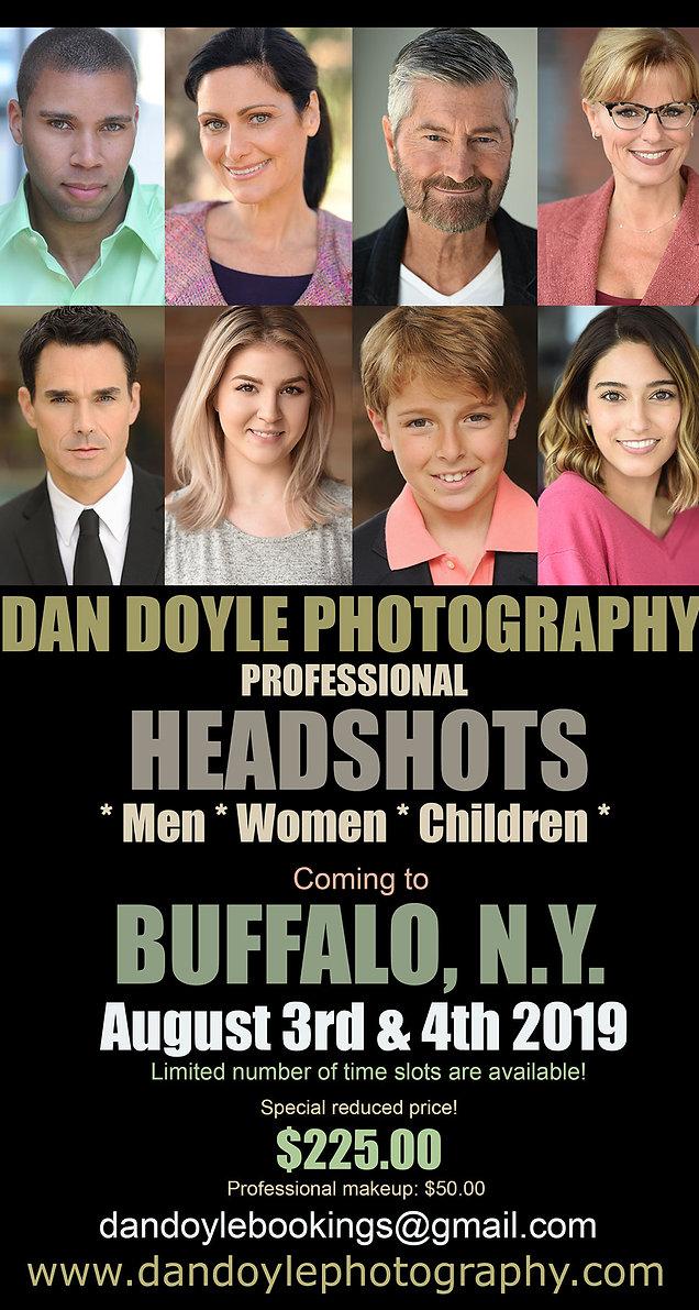 Buffalo actor headshot sessions