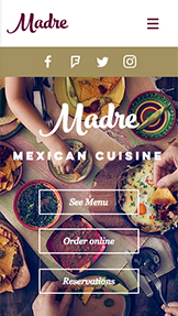 Restaurante website templates – Restaurante mexicano