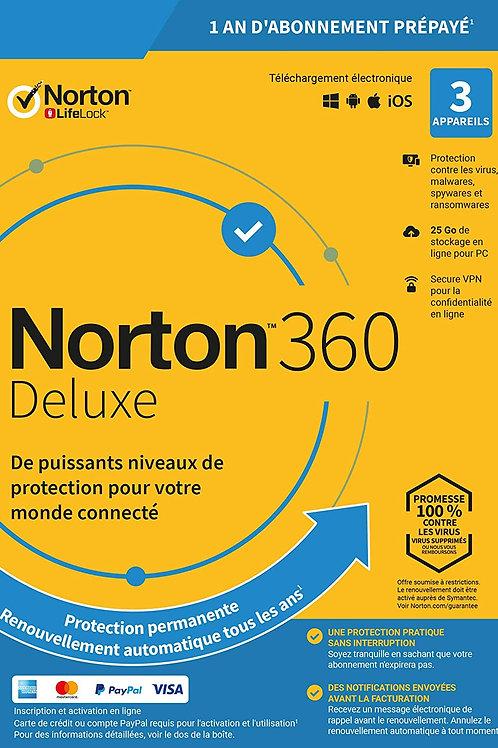 Norton Antivirus Plus 2020 | Antivirus pour 3 appareil et un an d'abonn