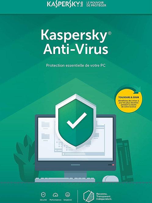Kaspersky Anti-Virus 2020 | 1 Appareil | 1 An | PC