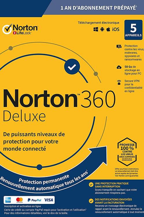 Norton Antivirus Plus 2020 | Antivirus pour 5 appareil et un an d'abonn