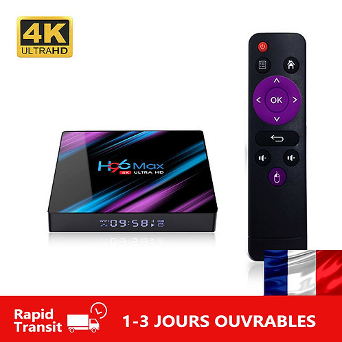 H96 MAX Android 9.0 RK3318 Quad Core 2.4G/5G Wifi BT TV Box