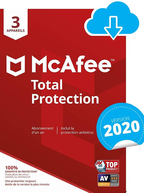McAfee 2020 Total Protection | 1 Appareils | 1 An | PC/Mac/Android/Smar