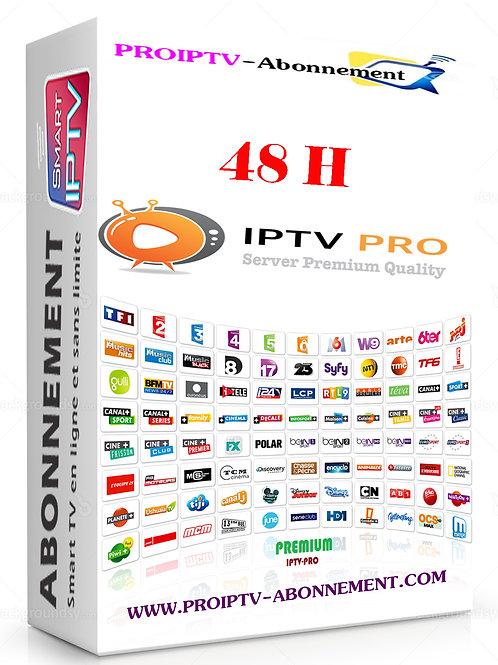 ABONNEMENT IPTV 48H